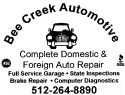 Bee Creek Auto for flyer